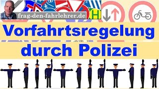 Polizei - Vorfahrt - Vorfahrtsregeln - Fahrschule - Führerschein