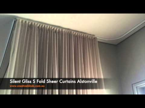 Creative Blinds and Awnings Silent Gliss S Fold Sheer Curtai