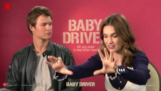 Baby Driver Interview Ansel Elgort, Lily James & Edgar Wright