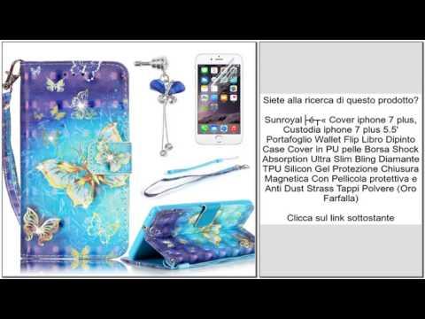 Cover Magnetica con Strass Cover per iPhone 5 Sunroyal Custodia