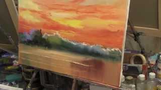 Художник Игорь Сахаров, уроки рисования, научиться рисовать небо , закат, море