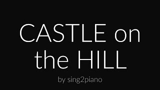Castle on the Hill (Piano karaoke instrumental) Ed Sheeran