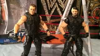 THE SHIELD WWE Elite Series 25 Dean Ambrose and Seth Rollins Review