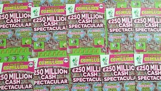 full pack of 250 million cash spectacular scratchcards 2000 subscriber special