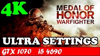 Medal of Honor Warfighter (4K) (Ultra Settings) | GTX 1070 + i5 4690 [2160p 60fps]