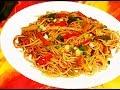 Veg Hakka Noodles Recipe - How To Make Vegetable Hakka Noodles Recipe Video