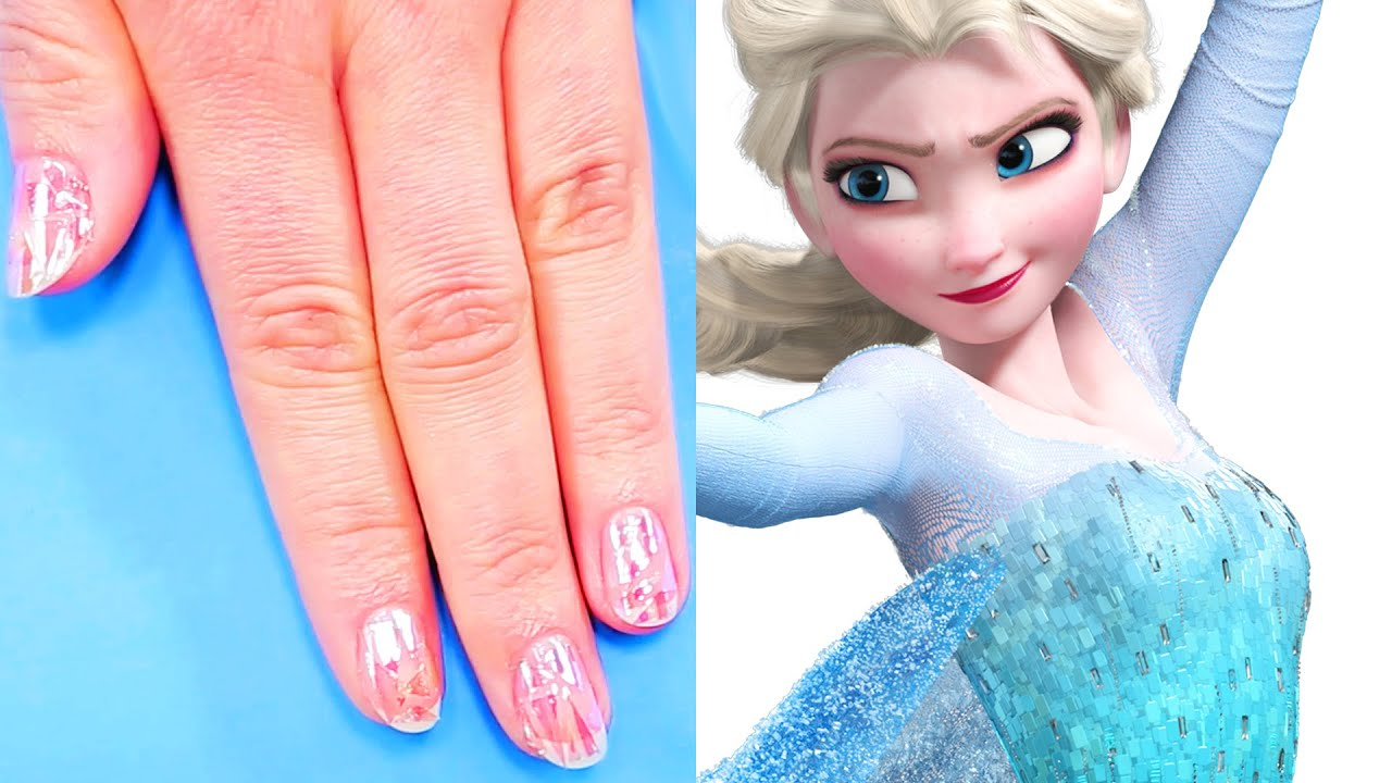 Frozen elsas shattered ice nail art tutorial tips by disney frozen elsas shattered ice nail art tutorial tips by disney style youtube prinsesfo Image collections