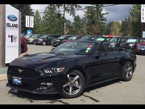 2016 Ford Mustang V6 Convertible Backup Camera Review Island