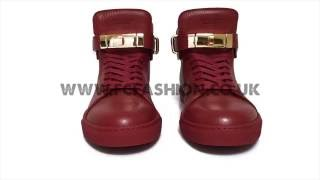 Скачать Buscemi Mens Sneakers 100mm Red High Top Trainers