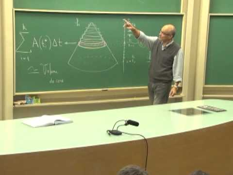 Cursos Unicamp: Cálculo 1 / aula 46 - Volumes - parte 1