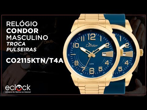 628475f1117 Relógio Condor Masculino Troca Pulseiras CO2115UMTDY C - Eclock ...