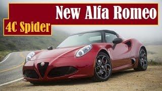 New Alfa Romeo 4C Spider, in the U.S price starting from $63,900