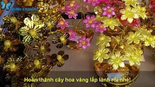 Hướng dẫn cách làm cây hoa vàng may mắn dịp tết