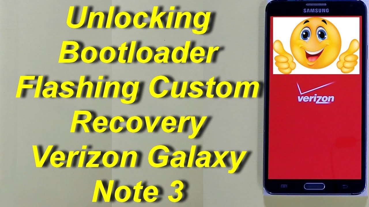 Unlocking Bootloader Verizon Galaxy Note 3 N900V (Subtitle English)