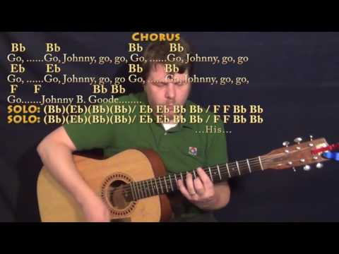 johnny-b.-goode-(chuck-berry)-guitar-cover-lesson-in-bb-with-chords/lyrics