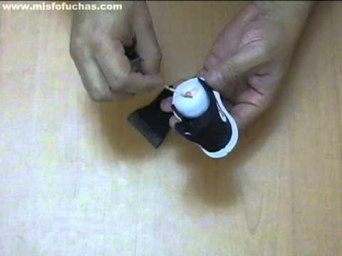 Cómo hacer zapatos en foami para fofuchas - Converse all star parte 3