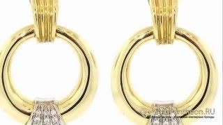 Золотые серьги пусеты с бриллиантами Damiani 502819(, 2015-04-25T18:35:41.000Z)
