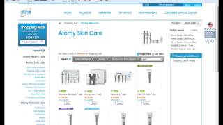 How to place an order using the Atomy-USA website