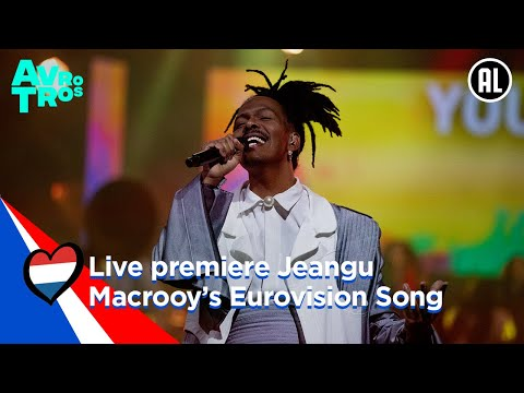 Live premiere of Jeangu Macrooy?s Eurovision Song for the Netherlands