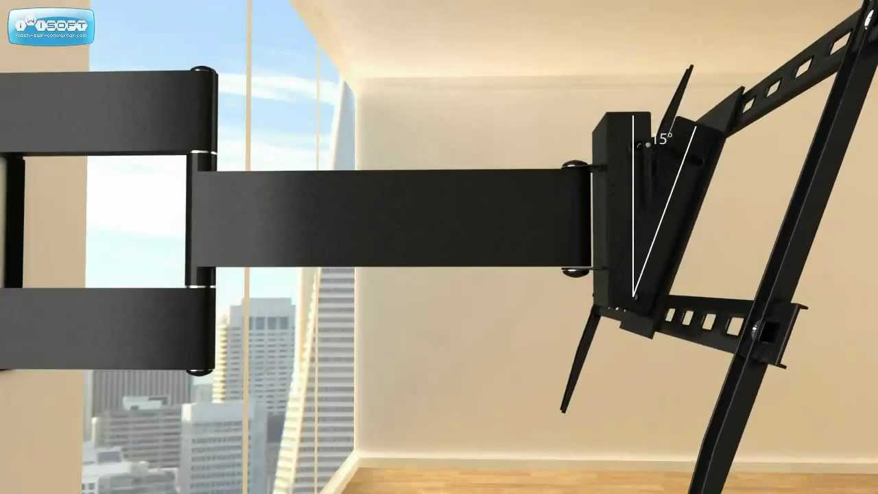 Double Arm Articulating Wall Mount for 37