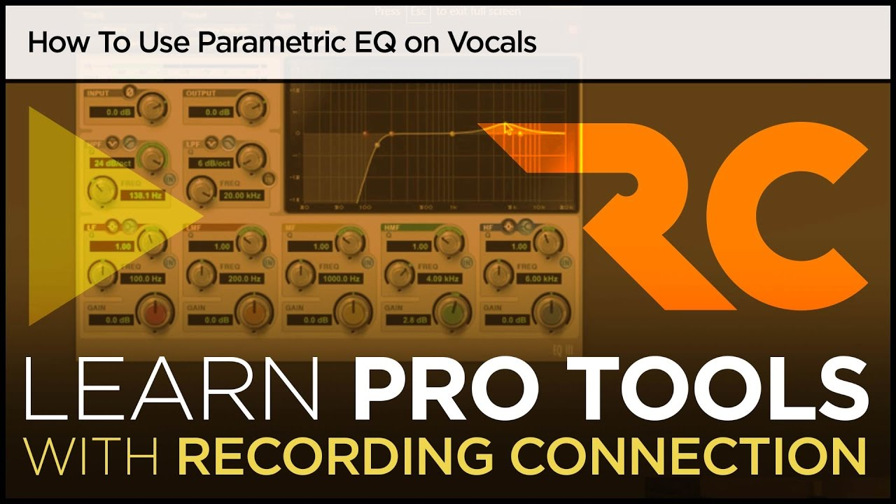 How To Use Parametric EQ on Vocals (Pro Tools Tutorial)