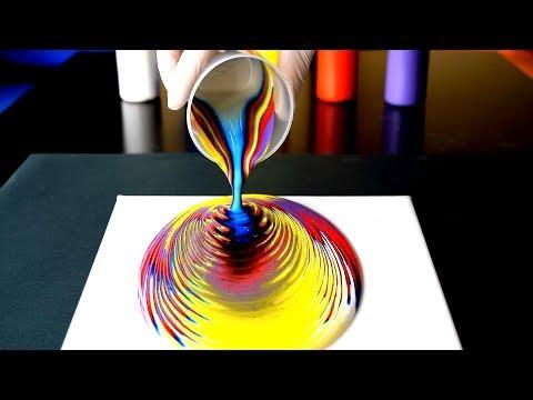 Pouring - Mi Primera Experiencia con Acrílicos Fluidos. 🎨 Acrylic Pouring en español