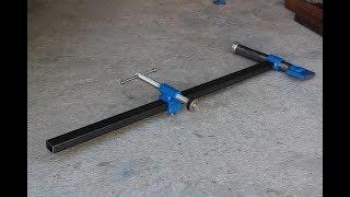 morsetto per banco da lavoro fai da te (homemade bench clamp)