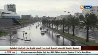 نشرية خاصة للأرصاد الجوية تحذر من أمطار غزيرة على الولايات الشرقية