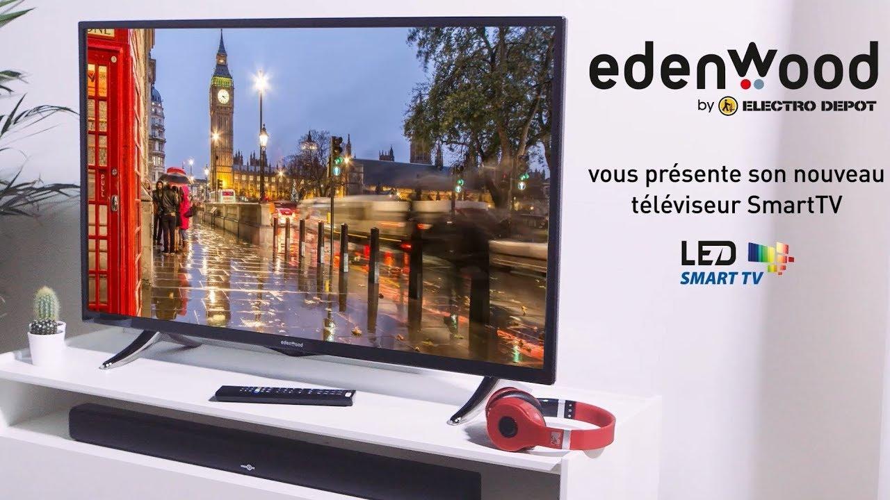 presentation television led edenwood ed4304fhd electro depot