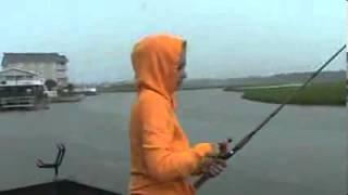 Attaque de requin sur pêcheur à la ligne !! +18ans !!