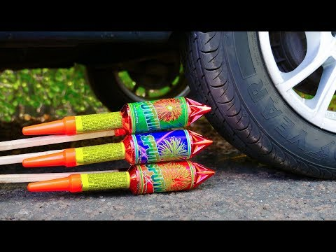 Crushing Crunchy & Soft Things by Car! - CAR VS XXL ROCKETS