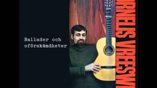 """Cornelis Vreeswijk framför tidig version av """"Jag har en spricka i läppen"""" i radio (1964)"""