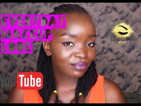 simple everyday makeup tutorial for dark skin  dewy