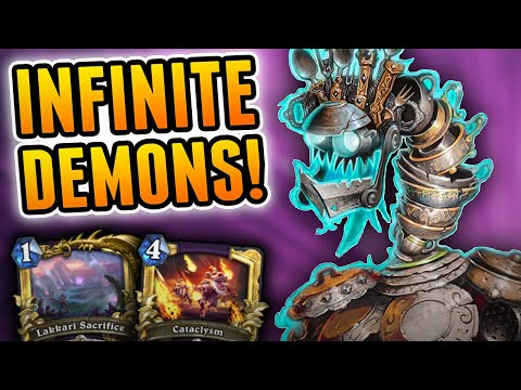Infinite Value is Always Good! | Quest Warlock | Wild Hearthstone Rise of Shadows