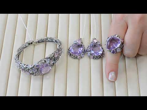 Комплекты кольцо, серьги и браслет от завода Вега