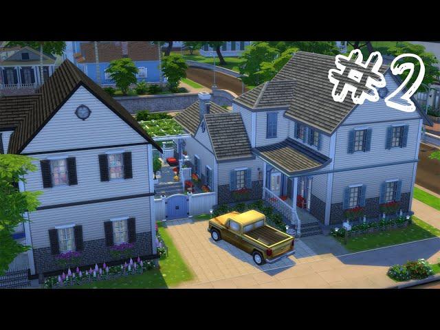 IKERHÁZ kertépítés 2.rész || Semidetached house outdoor Part 2 The Sims 4 Speed Build Story Movie