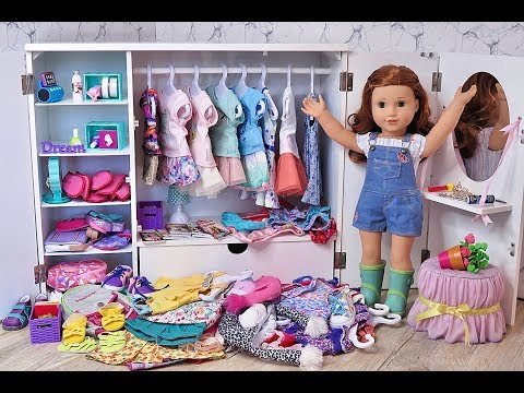 American Girl Doll Messy Closet Disaster ~ Closet Cleaning Tour!