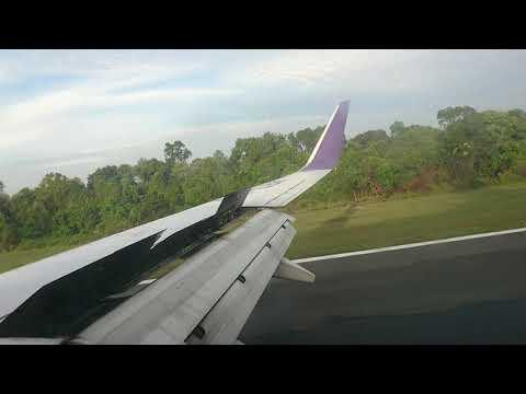 Batik Air Boeing 737-900 Landing In Sultan Syarif Kasim 2 International Airport Pekanbaru