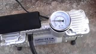 Двухцилиндровый автомобильный компрессор ТАЙФУН смотреть
