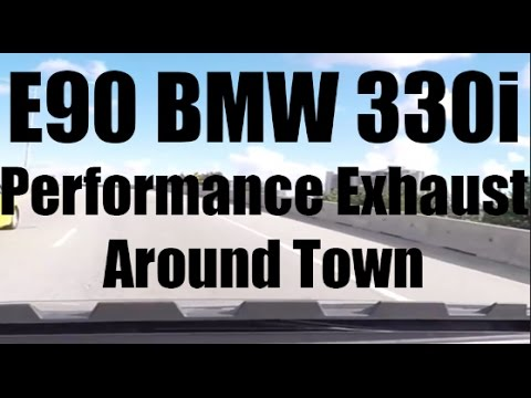 2006 BMW 330i Performance Exhaust E90  Driving Around Town  YouTube