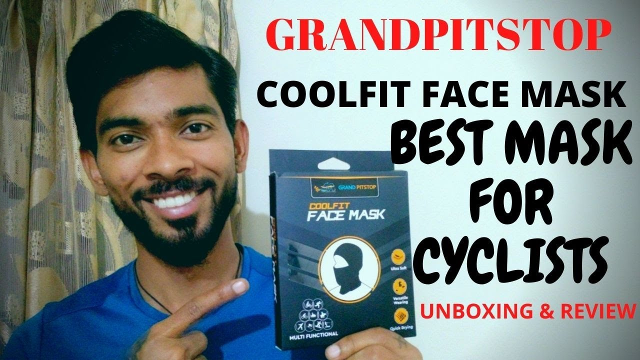 GRANDPITSTOP COOLFIT FACE MASK   BEST MASK FOR CYCLISTS AND BIKERS   UNBOXING AND REVIEW  