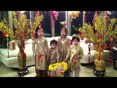 Tet Nham Thin 2012 Bao Tran, Mai Vy, Nguyen Tri va Bao Chau Hat chuc têt