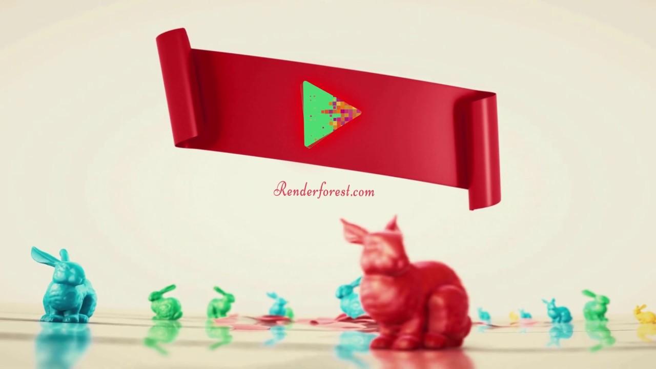 3D Easter Ribbon Greetings