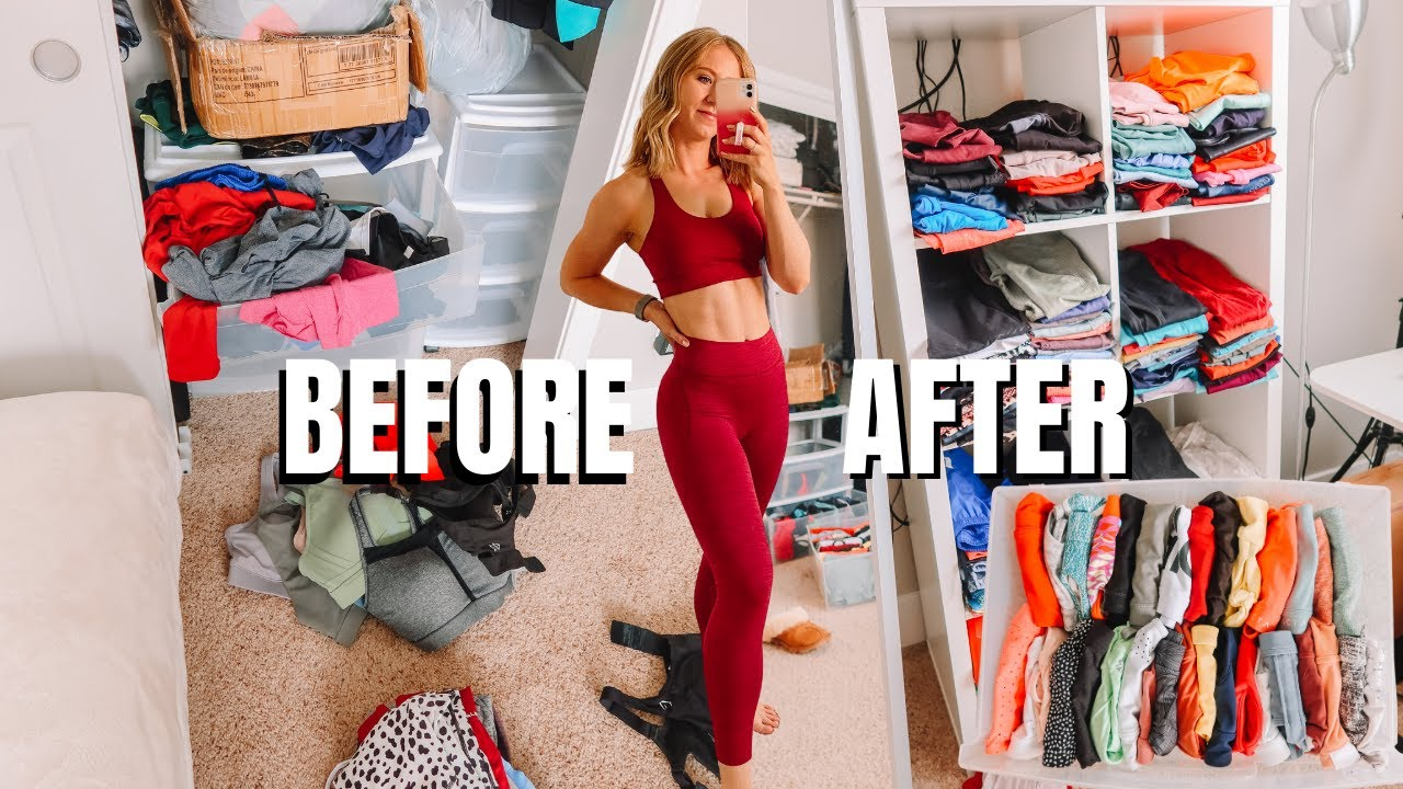 Declutter with Me! HUGE Activewear Collection Organization