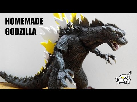 How To Make Godzilla Monster Planet Clay Figure Poly