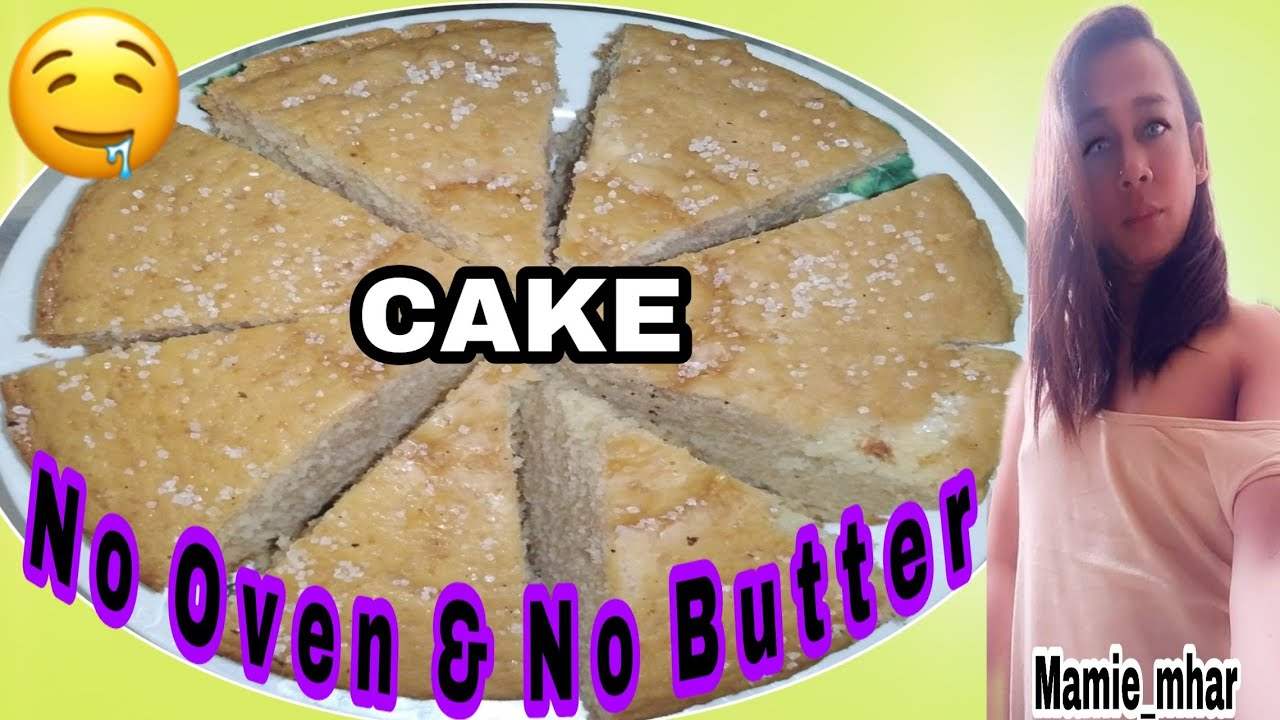 No Bake Cake/No Butter                           an easy&Fluffy cake to make at home w/out the oven!