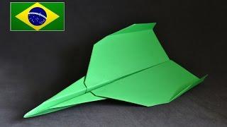 Origami: Avião que voa muito longe - Instruções em português PT BR
