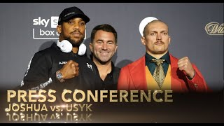 Joshua Vs. Usyk Press Conference Face To Face