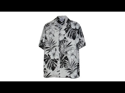 Гавайская рубашка Pacific Legend 410-3589 White