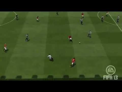 Diving header Robin van Persie Manchester United 3 -- 0 Newcastle Utd  EA SPORTS Football